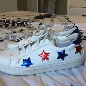 Topshop red and blue star sneakers